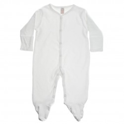 COTTON SLEEPSUIT, WHITE