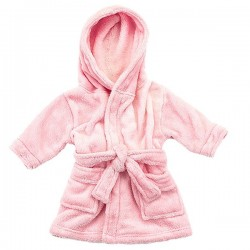 PINK BABY BATHROBES 0-24m