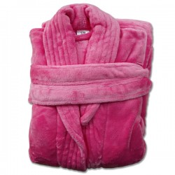 CERISE ADULT FLANNEL ROBE