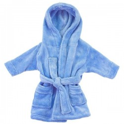 BLUE BABY BATHROBES 0-24m