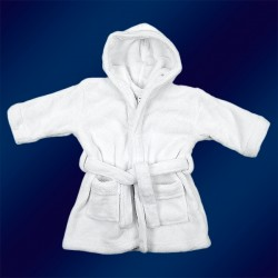 WHITE KIDS ROBES 2-6yrs