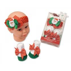 Baby Headband and Socks Set...