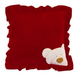 Soft velour cushion-Red