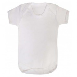 COTTON BABY VEST, WHITE