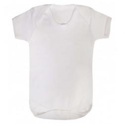 COTTON BABY VEST, WHITE