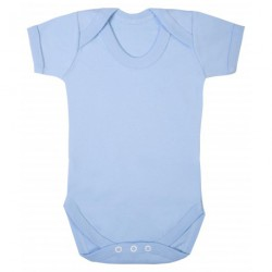 COTTON BABY VEST, BLUE