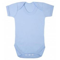 COTTON BABY VEST, BLUE