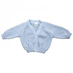 BLUE BABY CARDIGAN 0-18M