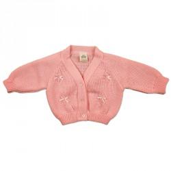 PINK BABY CARDIGAN 0-18M