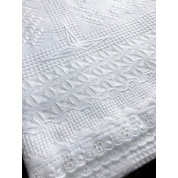 Cotton Christening shawl