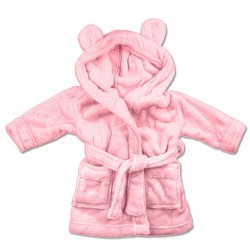 PINK BABY BATHROBES 1-2y