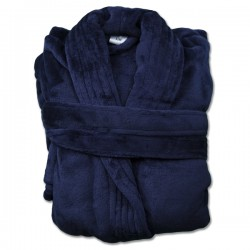 NAVY ADULT FLANNEL ROBE