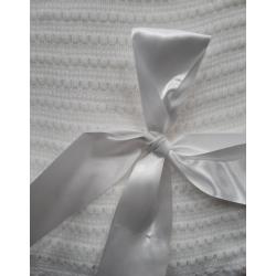 Christening shawl with...